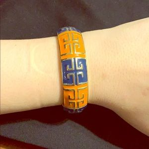 Orange/Blue Bracelet with spring closure